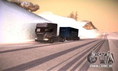 Scania R500 Topline para GTA San Andreas vista interior