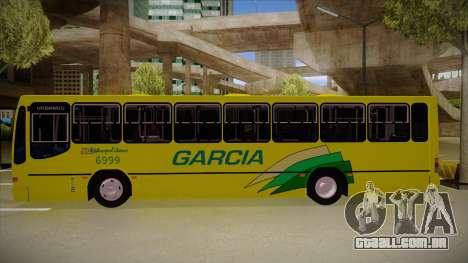 Busscar Urbanus SS Volvo B10 M garcia para GTA San Andreas traseira esquerda vista