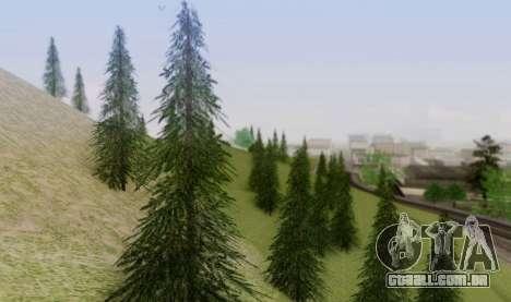 Nova vegetação 2013 para GTA San Andreas quinto tela