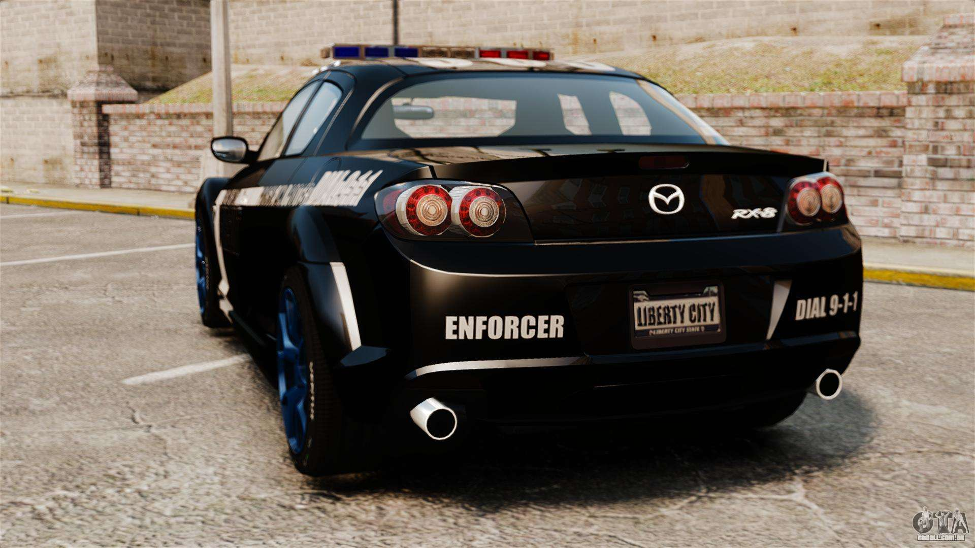 mazda rx 8 r3 2011 police para gta 4. Black Bedroom Furniture Sets. Home Design Ideas