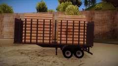 Caminhão semi-reboque madeira para frente de tre