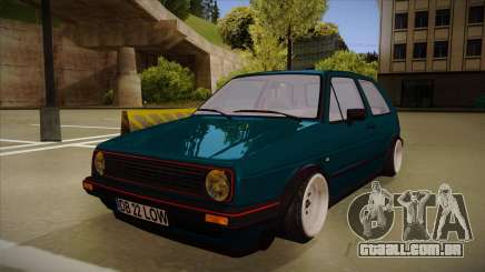Volkswagen Golf MK2 Stance Nation by Razvan11 para GTA San Andreas