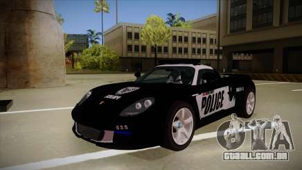 Porsche Carrera GT 2004 Police Black para GTA San Andreas