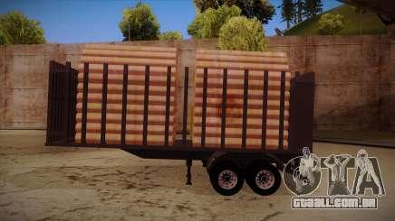Caminhão semi-reboque madeira para frente de trem MB 2644 para GTA San Andreas
