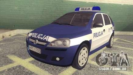 Opel Corsa C Policja para GTA San Andreas