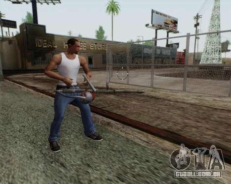 Lança-chamas novo para GTA San Andreas por diante tela