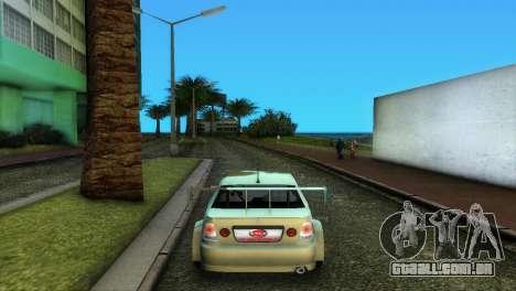 Lexus IS200 para GTA Vice City vista traseira