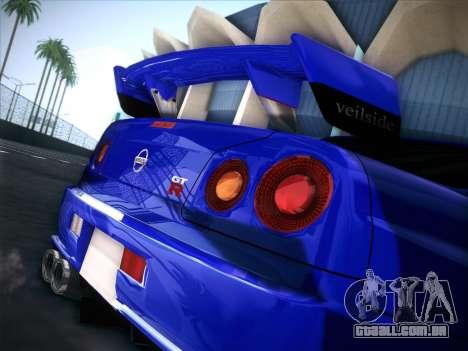 Nissan Skyline GTR para GTA San Andreas traseira esquerda vista