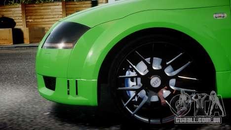 Audi TT Coupe 3.2 Quattro 2004 para GTA 4 esquerda vista