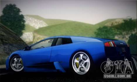 Lamborghini Murciélago 2005 para GTA San Andreas vista traseira