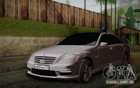 Mercedes-Benz S65 AMG para GTA San Andreas