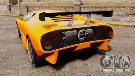 GTA V Infernus Pegassi para GTA 4 traseira esquerda vista