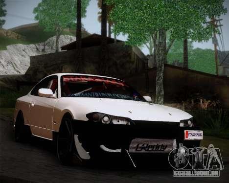 Nissan Silvia S15 JDM para GTA San Andreas traseira esquerda vista