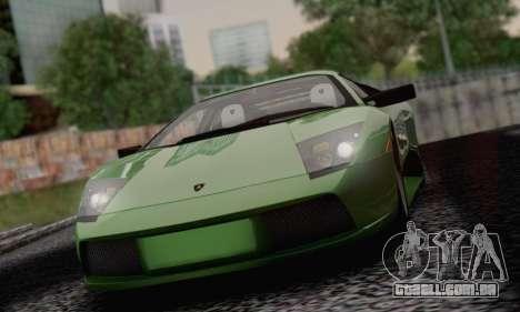Lamborghini Murciélago 2005 para GTA San Andreas vista inferior