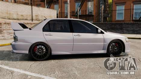 Mitsubitsi Lancer MR Evolution VIII 2004 Stock para GTA 4 esquerda vista