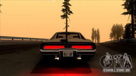 Dodge Charger 440 (XS29) 1970 para GTA San Andreas vista interior