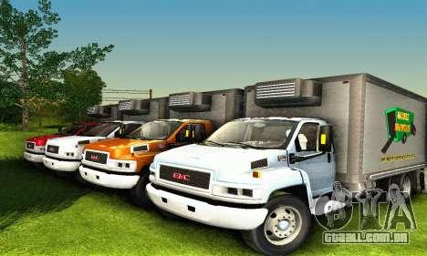 GMC Top Kick C4500 Dryvan House Movers 2008 para GTA San Andreas vista superior