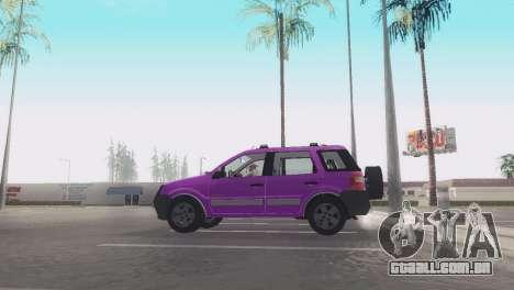 Ford EcoSport V2 para GTA San Andreas traseira esquerda vista