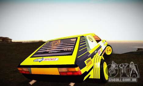 FSO Polonez 2500 Racing 1978 para GTA San Andreas vista interior