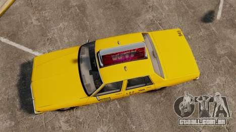 Chevrolet Caprice 1987 L.C.C. Taxi para GTA 4 vista direita