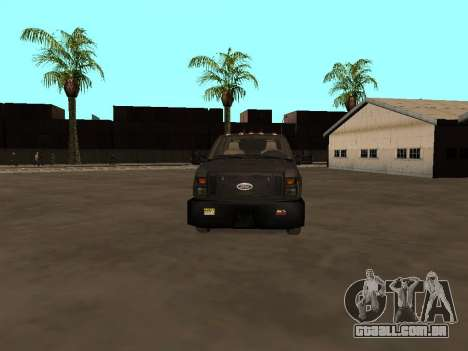 Ford F-350 ATTF para GTA San Andreas vista interior