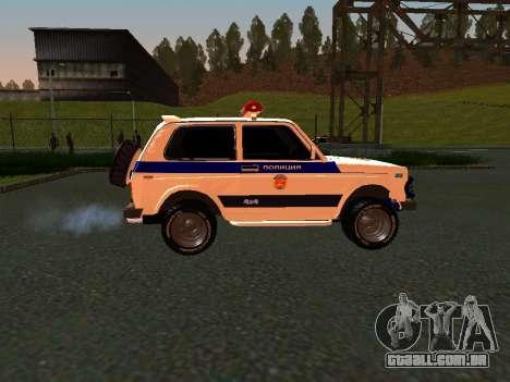 VAZ 212140 polícia para GTA San Andreas traseira esquerda vista