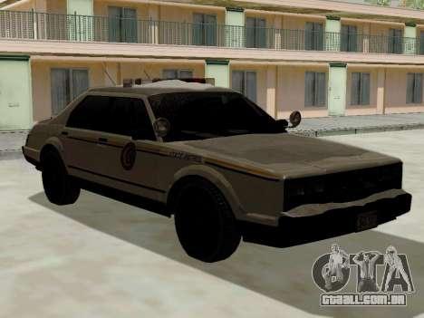 Yanton norte polícia Esperanto de GTA 5 para GTA San Andreas esquerda vista