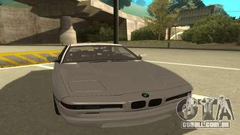 BMW 850CSi 1996 Stock version para GTA San Andreas esquerda vista