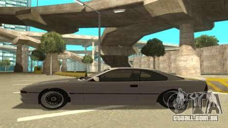 BMW 850CSi 1996 Stock version para GTA San Andreas traseira esquerda vista