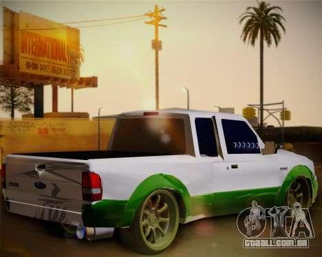 Ford Ranger 2005 para GTA San Andreas traseira esquerda vista