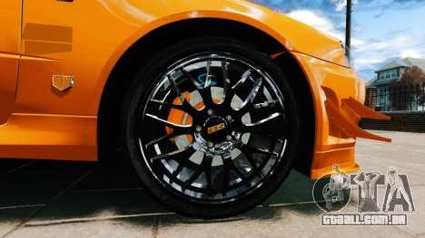 Nissan Skyline R34 GT-R NFS Underground para GTA 4 traseira esquerda vista