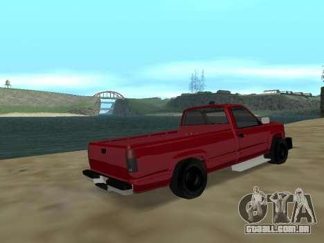 Chevrolet Silverado ATTF para GTA San Andreas traseira esquerda vista