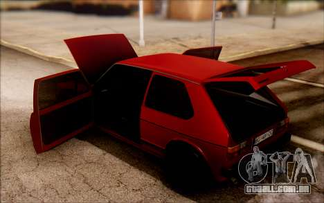 Volkswagen Golf Mk1 TAS para GTA San Andreas vista direita