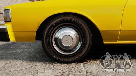 Chevrolet Caprice 1987 L.C.C. Taxi para GTA 4 vista de volta