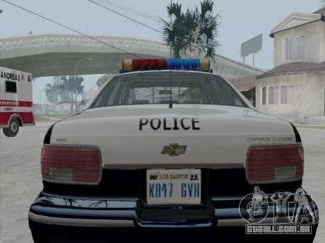 Chevrolet Caprice LVPD 1991 para GTA San Andreas vista direita