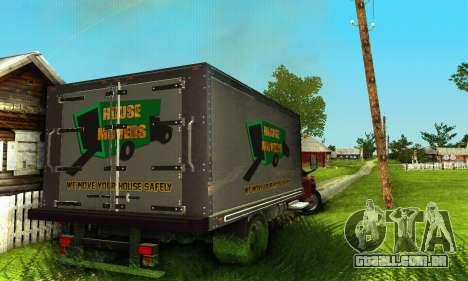 GMC Top Kick C4500 Dryvan House Movers 2008 para GTA San Andreas vista interior