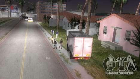 Mercedes Benz Atego para GTA Vice City vista direita