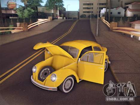 Volkswagen Käfer para GTA San Andreas vista inferior