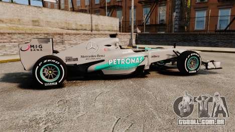 Mercedes AMG F1 W04 v5 para GTA 4 esquerda vista