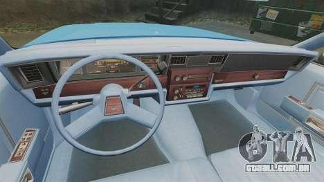 Chevrolet Caprice 1987 NYPD para GTA 4 vista de volta