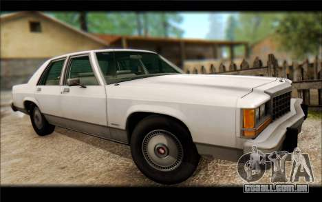 Ford LTD Crown Victoria 1987 para GTA San Andreas vista traseira