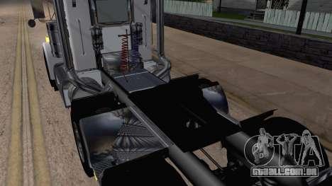 Peterbilt 379 Papa Clyde para GTA San Andreas vista traseira