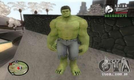 Hulk para GTA San Andreas segunda tela