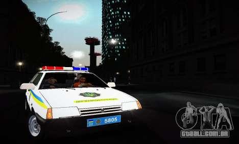 VAZ 2108 Ucrânia REC para GTA San Andreas esquerda vista