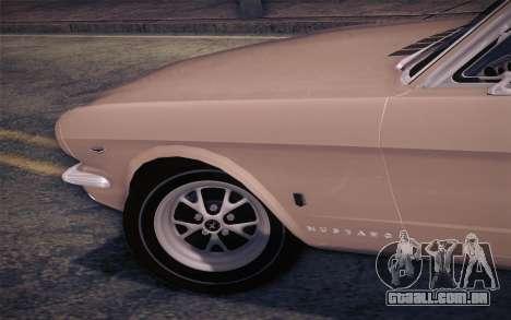 Ford Mustang GT 289 Hardtop Coupe 1965 para GTA San Andreas vista traseira