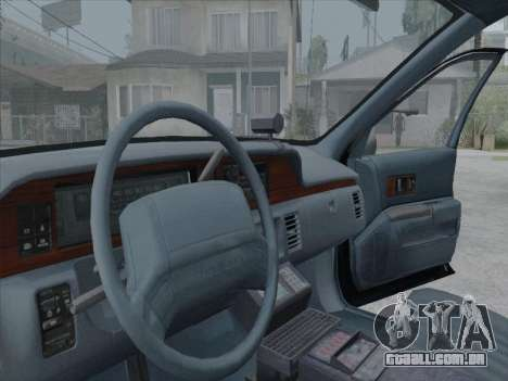 Chevrolet Caprice LVPD 1991 para GTA San Andreas esquerda vista