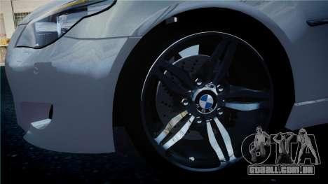 BMW M5 E60 para GTA 4 vista de volta