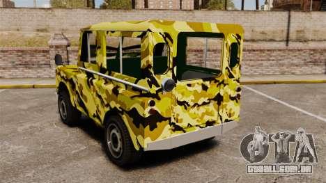 Land Rover Defender Antiguo para GTA 4 traseira esquerda vista