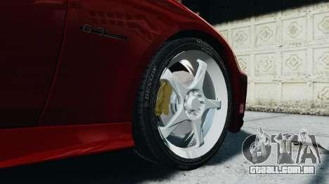 Mercedes-Benz CLS AMG para GTA 4 vista de volta