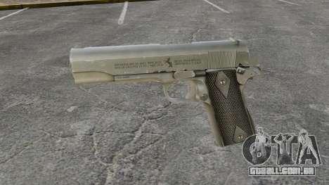 Colt M1911 pistola v3 para GTA 4 terceira tela